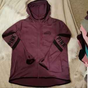 NWT HTF VS PINK HOODIE FLEECE LINE ULTIMATE M $90